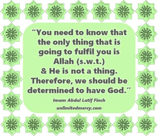 Fulfilment - Imam Abdul Latif Finch