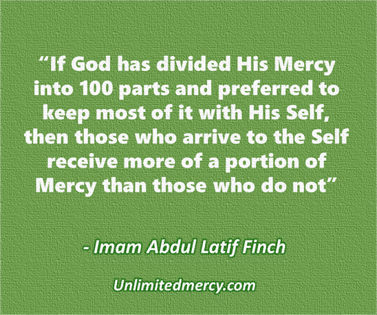 Mercy Thought quote 1b - Imam Abdul Latif Finch