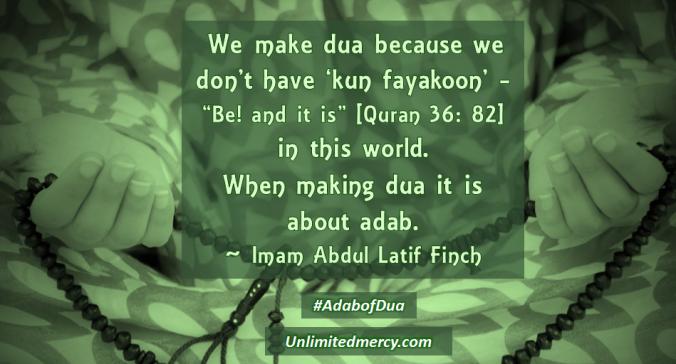 Imam Abdul Latif Finch Adab of Dua